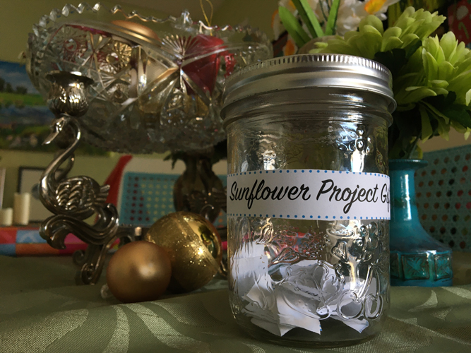 Image of Completed Sunflower Project Gift Jar